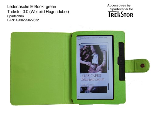 Grüne Tasche für Trekstor 3.0 von Hugendubel Weltbild Jonkers E-Book Reader - bestes Case für E-Book Reader Trekstor 3 - Elektronisches Buch Farbe - gruen