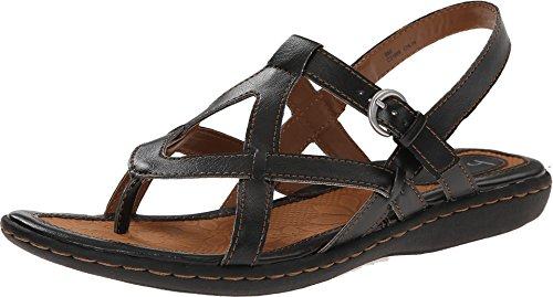 Women's B.O.C, Averie Thong Sandal BLACK 11 M Born Black Leather