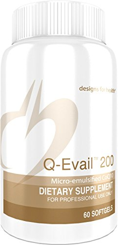 200 Mg Lecithin - Designs for Health - Q-Evail 200 - 200mg, CoQ10 Ubiquinone, 60 Softgels