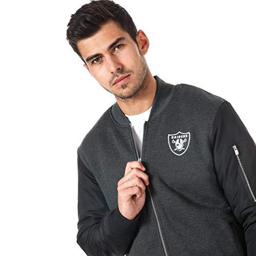 gris color New nbsp;Chaqueta negro Negro de Era polar forro diseño Oakland y NFL Raiders nbsp;– bomber Gris rPqH7wr