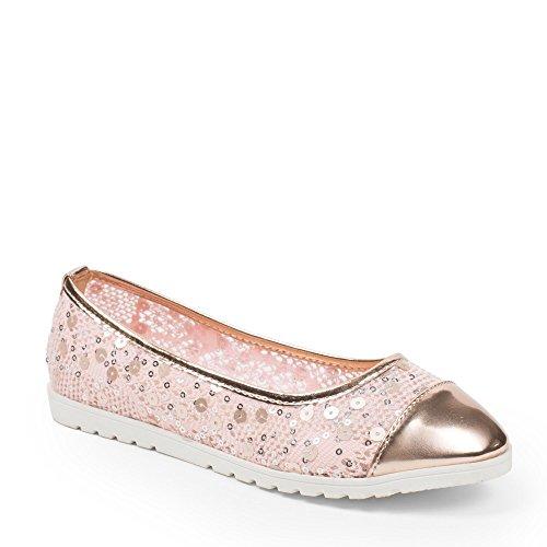 in di lustrini rosa Shoes impreziositi Maeva Rosa materiale Ideal bi Ballerine 7UEnwP