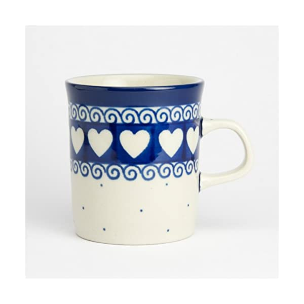 Polish Pottery Mini Mug – Light Hearted – 130ml