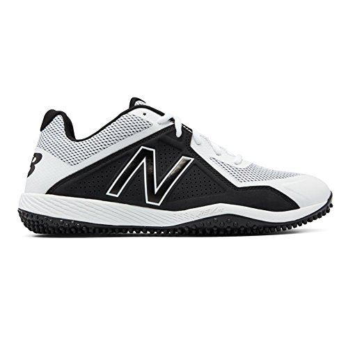 Cut Baseball Shoe - New Balance Men's T4040v4 Turf Baseball Shoe, White, 13 2E US