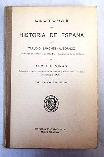 LECTURAS DE HISTORIA DE ESPAÑA: Amazon.es: SÁNCHEZ-ALBORNOZ, Claudio y VIÑAS, Aurelio: Libros