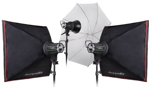 Interfit Photographic INT353 EX150Mk3 3 Head Strobe Kit (Multi Color)