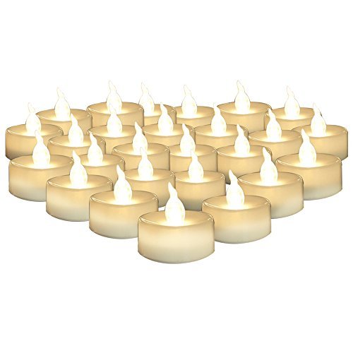 AGPtek LED Tea Lights, Flameless, Long Lasting, Pack of 24