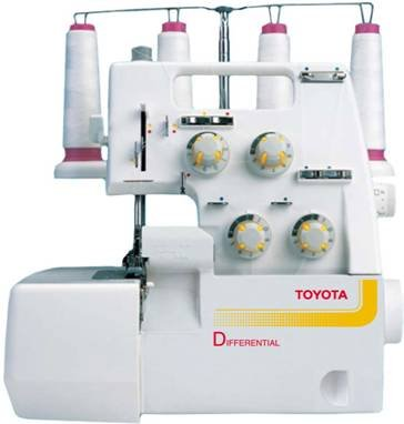 Toyota 2/3/4 Thread Serger/Overlock with Differential Feed-- Exclusive Listing by Johnston's Vac & Sew by SL-1T