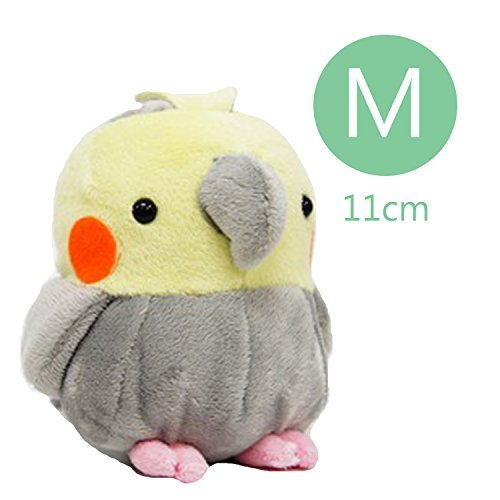 (Soft and Downy Medium Bird Stuffed Toy Doll (Cockatiel / Grey / M size 11 cm))