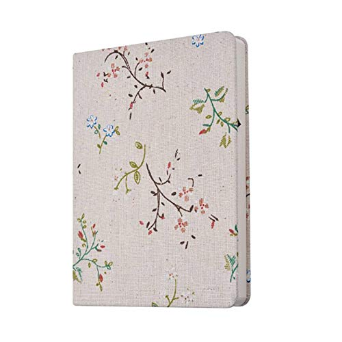 Notebooks & Writing Pads A5/A6 Flower and Tree Cloth Notebook Diary Travel Plans Notepad Students Stationary Gift 132 Pages by Chillin Store