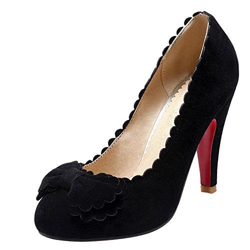 High Fashion Bows Shoes Pumps Womens Foot Black Heel Charm CqIxwAEt