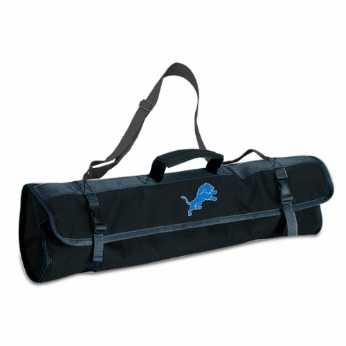 PICNIC TIME NFL Detroit Lions 3-Piece BBQ Tool Tote by PICNIC TIME