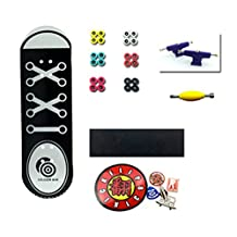 Remeehi Canvas Shoes Design Black Wooden Professional Fingerboard Set with Metal Nuts Trucks Basic Bearing Wheels