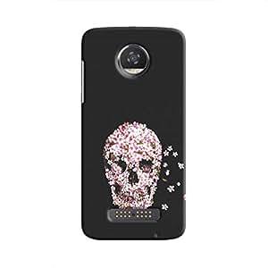 Cover it up Skull Flower Hard Case for Motorola Moto Z2 Play - Multi Color
