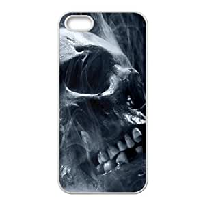 iPhone 5 5s Cell Phone Case White Skull Smoke Halloween TR2238468
