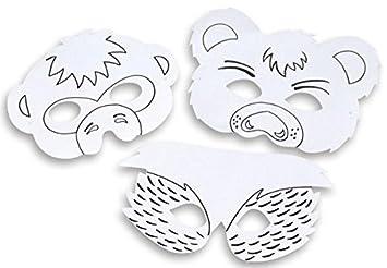 Betzold 52352 Tiermasken Set Blanko 8 X Kinder Maske Zum Ausmalen