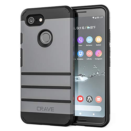 Pixel 3 Case, Crave Strong Guard Protection Series Case for Google Pixel 3 - Slate