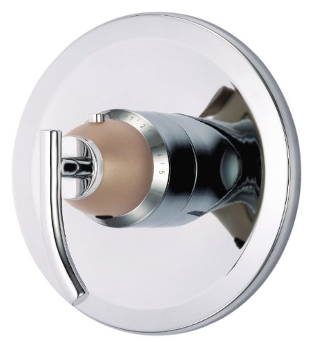 Danze D562054CSNT Sonora Single Handle 3/4-Inch Thermostatic Shower Valve Trim Kit, Chrome with Satin Nickel Accents (Valve Not Included)