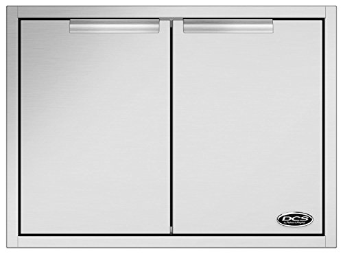 DCS ADN120X30 30'' Built-in Access Doors with Condiment Shelf Built into the Door in Brushed Stainless by DCS