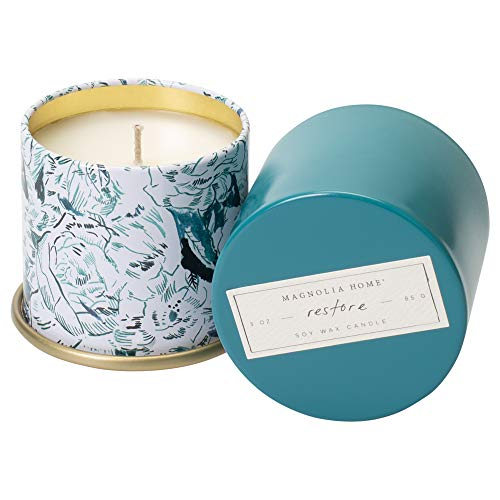 Restore Scented 3.0 ounce Soy Wax Tin Candle by Joanna Gaines - Illume from Magnolia Home
