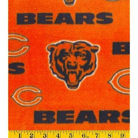 Chicago Bears Orange Fleece Blanket And Pillowcase Crib Set 2