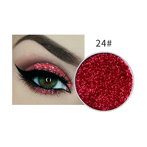 Price comparison product image Fheaven (TM) Pro Eyeshadow Glitter Make-up Powder Metallic Shimmer Eye Shadow Palette Highly Shine Pigmented Mineral Cosmetic Makeup 15 Colors Available (I)