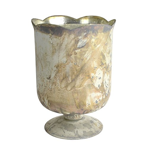 (Chelsea Marbled Glass Footed Floral Vase - 5.25