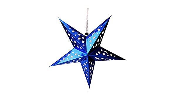 Hualieli Papel Estrella Linterna Pantalla Colorido Láser ...