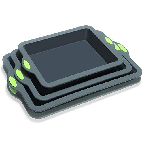 To encounter Silicone Baking Pans Set, 4 Pieces Nonstick Bakeware Set with Baking Pans, Baking Sheets, Cookie Sheets…