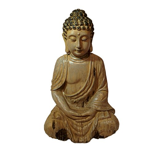 Statue of a Seated Dhyanasana Buddha Museum Quality Reproduction 1 Foot Tall From the Serenity Collection by Whole House Worlds