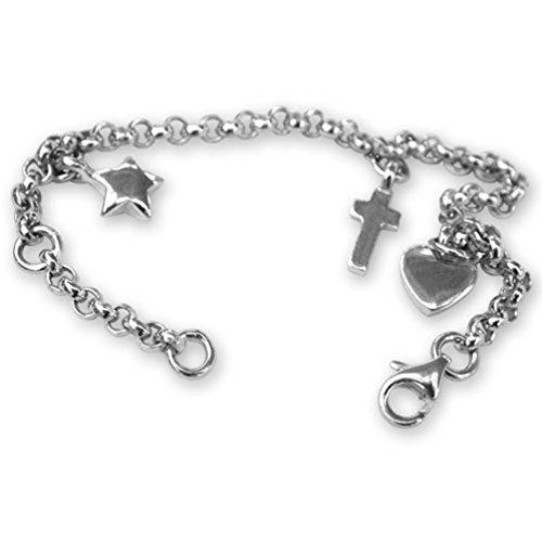 bracelet à breloques en argent Sterling Boîte cadeau 1 main