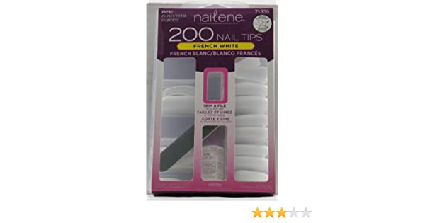 Amazon.com : Nailene 200 Nail Tips - French White 71335 : False Nails : Beauty