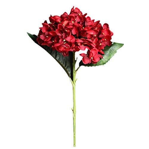 MerryWould Artificial Hydrangea Flower, 1 PCS Ramos de hortensias de Seda de Tallo Largo para Bodas, hogar, Hotel, decoracion de Fiestas, centros de Mesa (D)