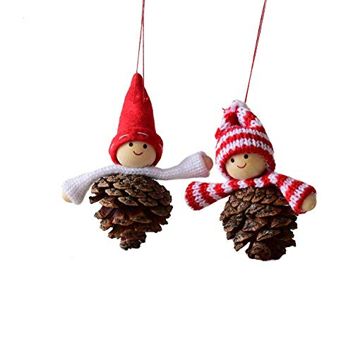 Luckycyc Red Tree Ball Doll - Christmas Decoration Ball Doll, red Cute Christmas Tree Ball Doll Pendant Christmas Decoration, Home Decoration, Christmas Door Hanging (2)
