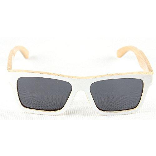 bambú gafas sol Retro polarizadas sol de de de conducción de y de de de mano hechas hombres sol Gafas a Blanco G sol unisex gafas playa de sol de de la madera los Gafas UV retro gafas protección señora de de rXEwEfq