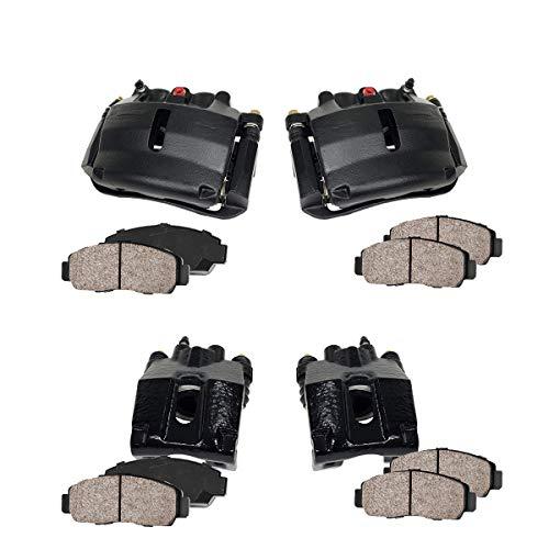 - Callahan CCK03682 [4] FRONT + REAR Premium Loaded Black Calipers + Ceramic Brake Pads + Hardware Kit