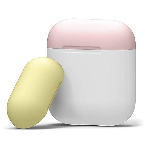 SamMoSon 2019 Auriculares Bluetooth Sony Mini Inalambricos,para Apple Airpods Funda Protectora Funda De Silicona