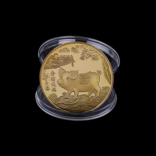 - LIGONG 5PCS 2019 Pig Year Commemorative Coin Gilding Present Souvenir New Year Craft Gift Lucky Zodiac Gifts, Blessing Souvenir