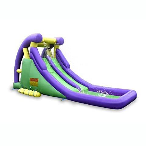 Sportspower Double Slide & Bounce Inflatable Water Slide - Bounce Houses Water Slides