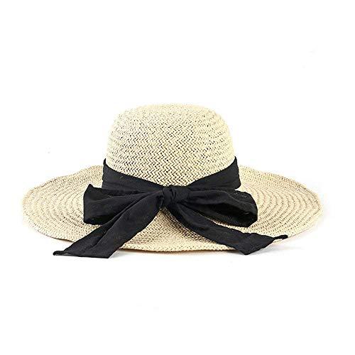 Paja Tamaño color De Grande Para Mujer Beige Plegable Sombrero Beige Fuxitoggo Eqwzaa