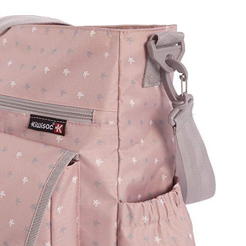 Kiwisac City Kiwi Rose Bolso de Silla de Paseo Unisex con un Diseño Original/Bolso para Carro Bebé para Pañales con Bandolera Ajustable | Color Rosa | ...