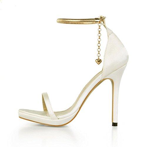 ZHZNVX Sandales femme satin B07GFPS5TL de chaussures été soie nouveau mariage dîner sexy femmes chaussures à bride de la chaîne avec des chaussures qui ont été lattice milky 106777f - epictionpvp.space