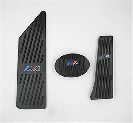 Ushopkins AT No Drilling Automatic Car Gas Brake Pedal Cover Accelerator Brake Foot Rest Pedals Covers For BMW 1 3 Series X1 X5 X6