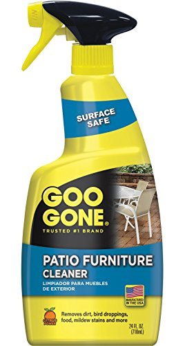 Goo Gone Patio Furniture Cleaner - Removes Dirt, Bird Droppings, Food, Mildew Stains and More From Your Outdoor and Patio Furniture - 24 Fl. Oz., 2107 (Furniture Cleaner Resin Patio)