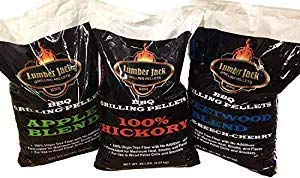Lumber Jack BBQ 80 Pounds Pellet Assortment (Pick 4 x 20 Pound Bags) See Description for Flavors