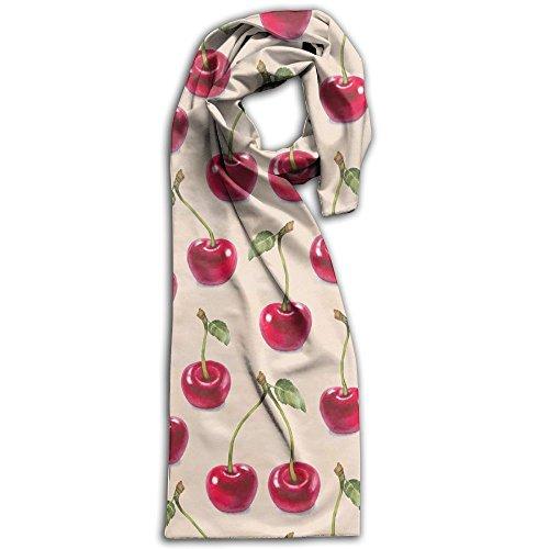 Cherry Pattern Adult Sports Fan Scarves Novelty Scarves Scarf Soft Wrap Shawl - Creek Cherry Mall