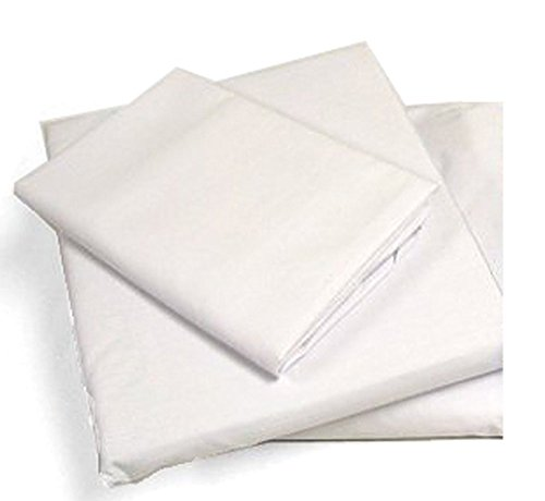 Cot Sheets (Fitted, Flat, Sets), 4 Piece Cot Sheet and Pillow Case Set - White- 1 cot sheet 33' x 75', 1 cot flat sheet 64'x94', 2 pillow cases 20'x30'.