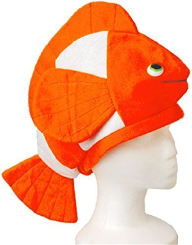 US Toy - Stuffed Plush Nemo Clown Fish Hat Costume Party Cap, (18 Inches Length and 10 Inches Width) (2-Pack) -