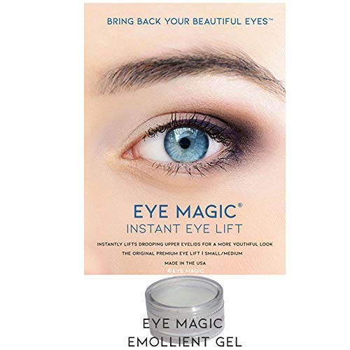 Eyelid Gel - Eye Magic Premium Instant Eye Lift (S/M Kit w/Gel) Made in America - Lifts and Defines Droopy, Sagging, Upper Eyelids