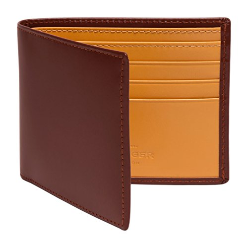 Ettinger Men's Bridle Hide Billfold Wallet with 6 Credit Card Slips - Havana Brown/Tan (Mens Bridle)
