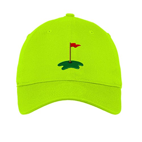 Golf Cup Twill Cotton 6 Panel Low Profile Hat Lime Green (Panel Twill Cotton Cap Golf)